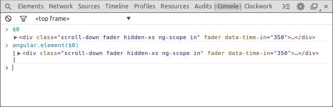 Chrome Dev Tools: currently inspected element